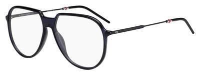 Christian Dior Homme BlackTie258 PJP Eyeglasses Dark Blue Matte Black Frame 56mm