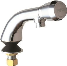 Chicago Faucets 807-E12-665PAB Single Supply Hot / Cold Water Basin Faucet with, Chrome