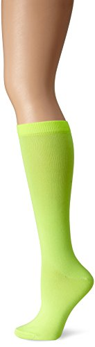 Ozone Women's Womens Neon Basic Knee High Sock, Green, One Size