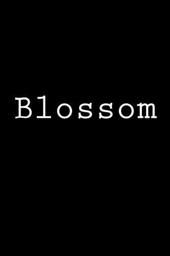 Blossom: Notebook, 150 lined pages, glossy softcover, 6 x 9
