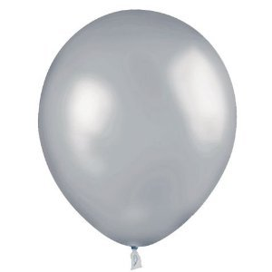 100 Count 11″ Latex Balloons Silver, Health Care Stuffs
