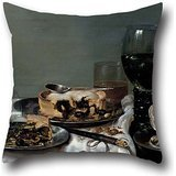The Oil Painting Willem Clasz. Heda - Breakfast Table With Blackberry Pie Pillow Cases Of ,20 X 20 Inch / 50 By 50 Cm Decoration,gift For Home Office,couch,lover,family,outdoor,bedding (both ()