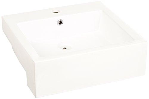 Cantrio PS-1919 Ceramic Above Mount Bathroom Sink, 19.62 ...