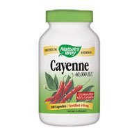 Cayenne - 40,000 HU, 450 mg 180 caps ( Multi-Pack) by Nature's Way ()