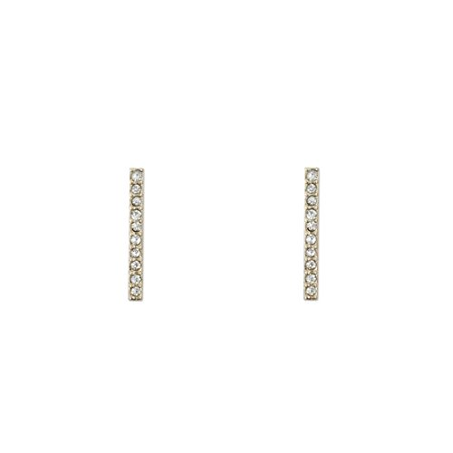 KITSCH Icon Collection Pave Bar Earrings - Balance, Gold -