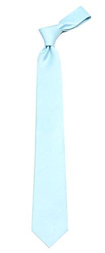 ADF-1 Mens Solid Color Necktie (Baby Blue Necktie)