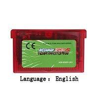 32 Bit Handheld Console Video Game Cartridge Card MegaMan Battle Network 5 Team Protoman English Language EU Version Clear red shell