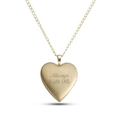 Things Remembered Personalized Sterling Silver Gold Heart Locket with Engraving Included