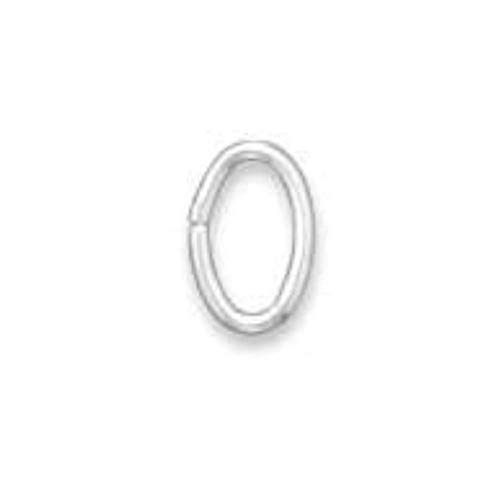 (Crown Jewelry 6mm x 4mm Oval Sterling Silver Open Jump Rings (Package of 10))