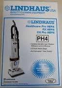 Lindhaus HealthCare Pro RX CH Hepa PH4 Vacuum Cleaner 10 Bags 2 Filters
