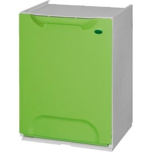 Pattumiera/Cassonetto modulo componibile per Raccolta Differenziata Ecologico Color - Verde GrecoShop
