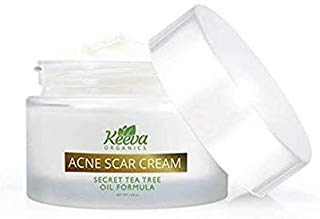 Keeva Organics  Intensive Acne Scar Removal Treatment Cream - 7X Faster Results - Secret TEA TREE OIL Organic Ingredients (Best Treatment For Red Acne Scars)
