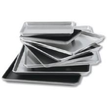 Lincoln Wear - Ever Sheet Pan Natural Half Size 17 3/4'' x 12 7/8'' x 1'' Gauge 18 -- 12 per case. by Vollrath