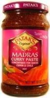 Pataks Madras Curry Paste Hot 10oz (Madras Curry Sauce)