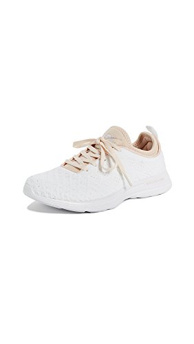 APL: Athletic Propulsion Labs Women's Techloom Phantom Sneakers, White/Opaque Peach, 9 B(M) US