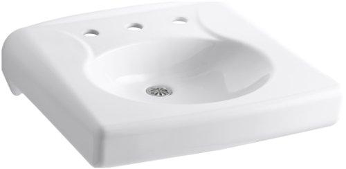 KOHLER K-1997-8N-0 Brenham Wall-Mount Bathroom Sink with 8