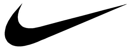 Nike Swoosh Logo Vinyl Sticker Decal-Black-4 Inch