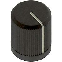 EHC (ELECTRONIC HARDWARE) 3488-2B ROUND KNURLED KNOB, 6.35MM (10 pieces)