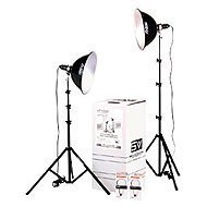 Smith-Victor KT1000U, 2 Light 1000 watt Thrifty Photoflood Intermediate Kit with Umbrellas ()