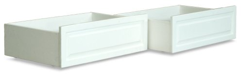 Atlantic Furniture Raised Panel Bed Drawers, Twin/Full, Whit