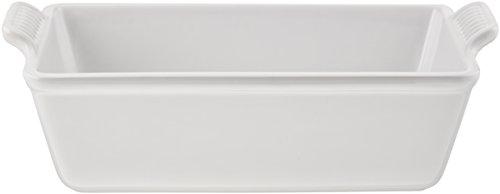 Le Creuset Heritage Stoneware 1 1/2qt Loaf Pan, (White Loaf Pan)