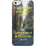 Country Road Print Protector Cover iPhone 5S Case,Case for iPhone 5 With Beautiful Psalm Life Quotes 119:105 Thy word is a lamp unto my feet and a light unto my path