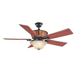 Hampton Bay Radcliffe 52 in. Indoor/Outdoor Natural Iron Ceiling Fan