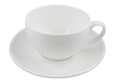 Super White Espresso/Cappuccino/Coffee Cup with Saucer Sets (5, 4.25
