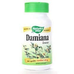 Leaves Damiana (Natures Way Damiana, 100 Caps (Pack of 3))