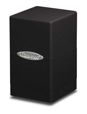Ultra Pro Satin Tower Deck Box | Black | 1-Pack (Ultra Pro Mtg Pro Tower Deck Box)