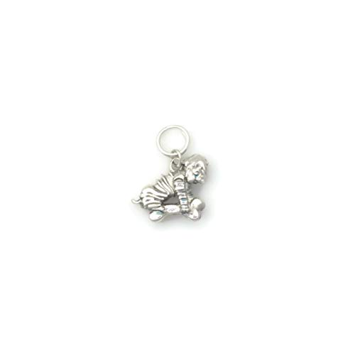 (Sterling Silver Chinese Shar Pei Charm, Silver SharPei Charm, Silver Shar Pei Jewelry fr Donna Pizarro's Animal Whimsey)