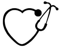 Dr Who Costumes Au (Heart Stethoscope Nurse Doctor Decal Vinyl Sticker|Cars Trucks Vans Walls Laptop| Black |5.5 x 4.5 in|CCI1256)