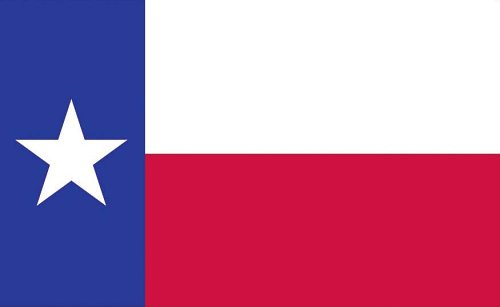 Valley Forge, Texas State Flag, Nylon, 3'x5', 100% Made in U