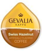 Gevalia Swiss Hazelnut Coffee (Medium), 16-Count T-Discs for Tassimo Coffeemakers (Pack of 2)