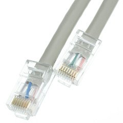 ElectroExperts Plenum Cat5e Gray Ethernet Patch Cable, CMP, 24 AWG, Bootless, 150 foot