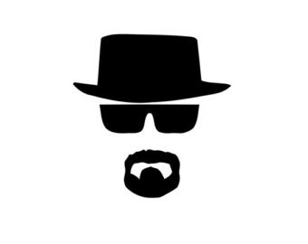 NI676 Breaking Bad Heisenberg Face Vinyl Decal | 5.5 Inches Tall | Premium Quality Black Vinyl - Walter Sunglasses