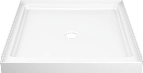 Delta Faucet ProCrylic 36 x 36 Center-Drain Shower Base, High-Gloss White B78615-3636-WH