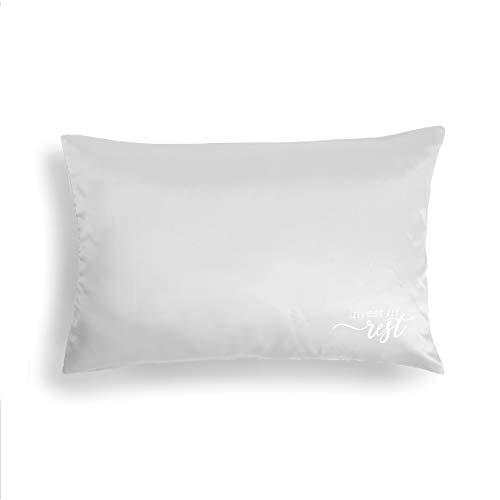 DEMDACO Invest in Rest Smooth Cream 28 x 20 Polyester Fabric Satin Pillow Case