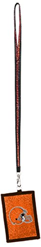 NFL Cleveland Browns Beaded Lanyard with Nylon Wallet