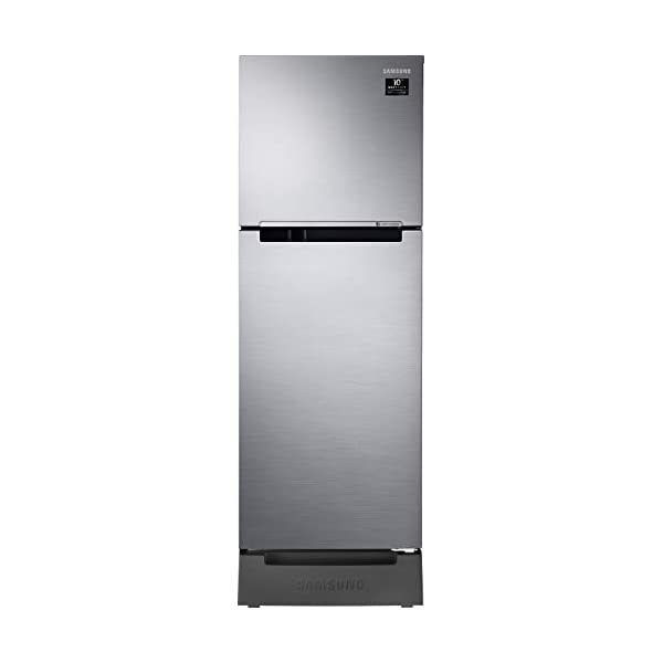 Samsung 253L 2 Star Inverter Frost Free Double Door Refrigerator (RT28T3122S8/HL, Elegant Inox, Base Stand with Drawer) 2021 July Frost-free refrigerator; 253 litres capacity Energy Rating: 2 Star Warranty: 1 year on product, 10 years on compressor