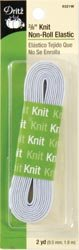 "Bulk Buy: Dritz Knit Non-Roll Elastic 3/8"" X2 Yards-White"