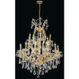 Crystal Swarovski Collection Strass - Elegant Lighting 2801D32G/SS Theresa Collection 19-Light Hanging Fixture with Swarovski Strass/Elements Crystal, Gold Finish