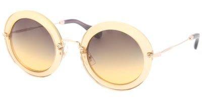 Miu Miu 13NS PDA1F2 Genista Yellow 13NS Noir Round Sunglasses Lens Category - Round Miu Sunglasses Miu Noir