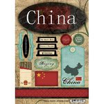UPC 646619186072, Scrapbook Customs - World Collection - China - Cardstock Stickers - Travel