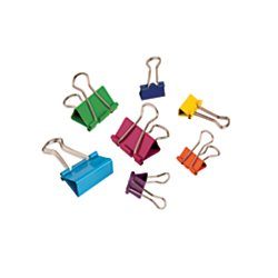 Office Depot(R) Brand Fashion Binder Clips, Assorted Sizes, Assorted Colors, Pack Of 65 by Office Depot