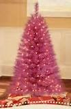Holiday Time Prelit 4 Foot Indiana Spruce Pink Tree with 150 Prestrung Clear mini Lights