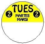 814221FG 1 Inch Circle-Tuesday-Trilingual-REMOVX Pospaper
