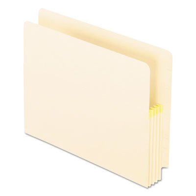 Convertible File, Straight Cut, 3 1/2 Inch Expansion, Letter, Manila, 25/Box