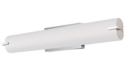 LB74119 LED Vanity Light Fixture, 24-Inch, Vertical or Horizontal Tube with Brushed Nickel Wall Sconce, 20-Watt, 4000K Cool White, 1000 Lumens, ETL and ENERGY STAR Listed, Dimmable