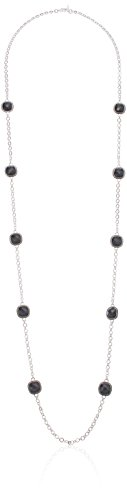 Napier Women's Jet and Silver-Tone Strand Age Necklace